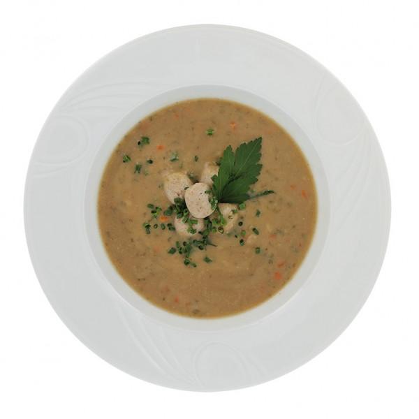 Grünkernsuppe mit Markklößchen