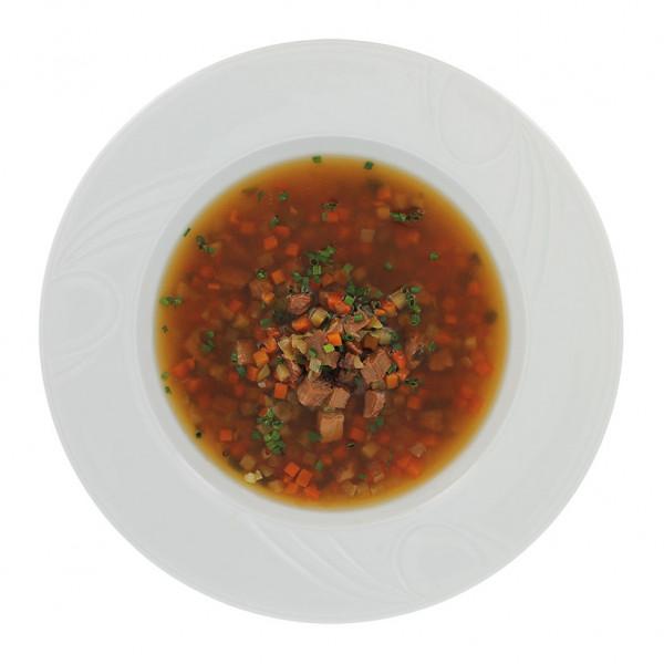 Rindfleischsuppe mit Gemüse